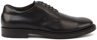 Tod's Tods Leather Lace-up Shoes With Embossed Logo