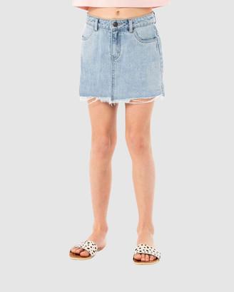 Rusty Girl's Denim skirts - Celeste High Rise Denim Skirt Girls - Size One Size, 8 at The Iconic