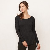 Lauren Conrad Women's Lace-Up Crewneck Sweater