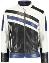 Calvin Klein Jeans Mallad Racer Leather Jacket Bright White
