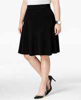 Alfani Plus Size Fit & Flare Skirt, Only at Macy's