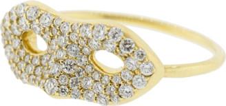 Monica Rich Kosann Pave Diamond Mask Ring