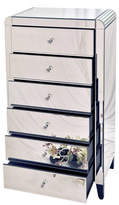 Out There Interiors Six Drawer Mirrored Tallboy Chest