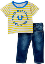 True Religion Stripe Tee Geno Single 2-Piece Set (Baby Boys)