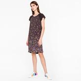 Paul Smith Women's Black 'Marble' Print Jersey Dress