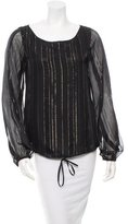 Rachel Zoe Silk Striped Top