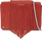Claudie Pierlot Azteque suede shoulder bag