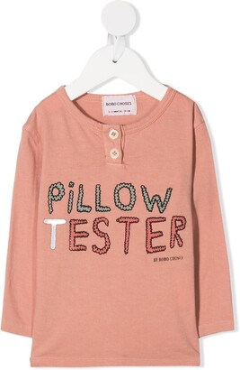 Bobo Choses Slogan Print Organic Cotton Top