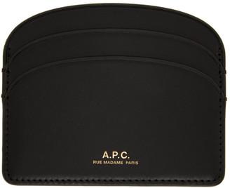 A.P.C. Black Demi-Lune Card Holder