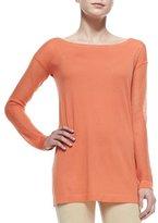 Donna Karan Cashmere Easy Tunic w/ Mesh Sleeves