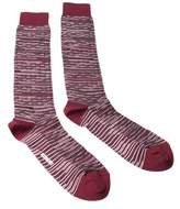 Missoni Gm00cmu5245 0002 Maroon/gray Knee Length Socks.