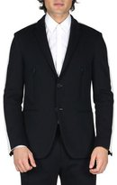 Fendi Track-Stripe Blazer Jacket, Black