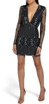 Missguided Women's Mesh & Lace Minidress