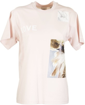 Burberry Montage Print Cotton Oversized T-shirt