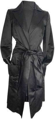 Stella McCartney Stella Mc Cartney Black Silk Trench coats