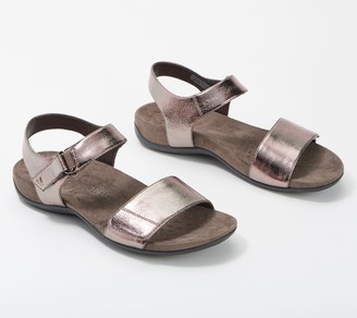Vionic Adjustable Sandals - Marsala Metallic