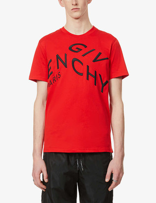 Givenchy Refracted logo-embroidered cotton-jersey T-shirt
