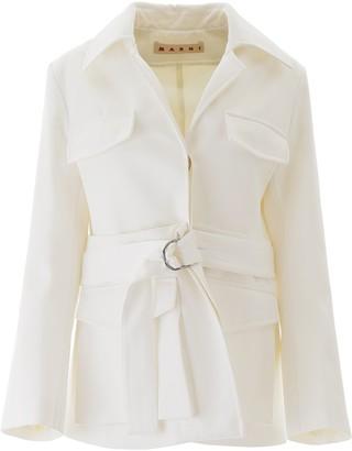 Marni Removable Bottom Belted Jacket