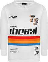 Diesel Boys White Long Sleeve Tissok Top