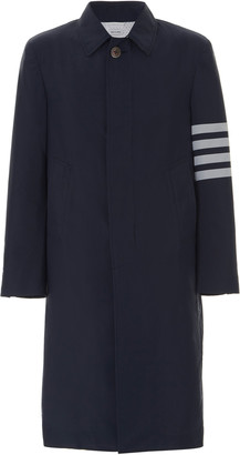 Thom Browne Unstructured Cotton-Twill Overcoat