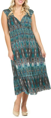 Papillon Global Printed Midi Length Dress