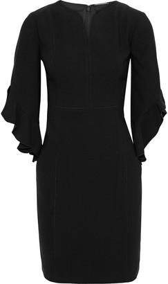 Elie Tahari Natanya Ruffle-trimmed Crepe Mini Dress