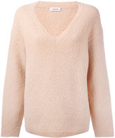 Toteme - oversized v-neck jumper - women - Polyamide/Spandex/Elastane/Wool - S