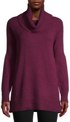 Time and Tru Women's Cowl Neck Tunic Sweater