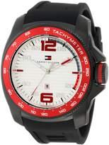 Tommy Hilfiger Men's Sport Black Ip Silicon Watch 1790854