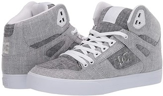 DC High-Top WC TX SE (Grey/Grey/White) Men's Skate Shoes