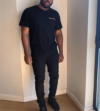 Topman Big & Tall spray on jeans in black