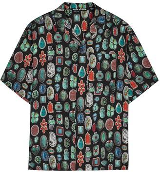 Palm Angels Jewels printed shirt