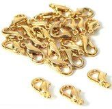 FindingKing 24 Lobster Clasps Claw Gold Plated Hamilton Mint Part