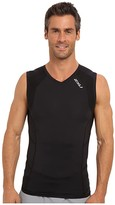 2XU Compression S/L Top (Black/Black) Men's Sleeveless