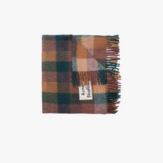 Acne Studios multicoloured Valley check blanket scarf