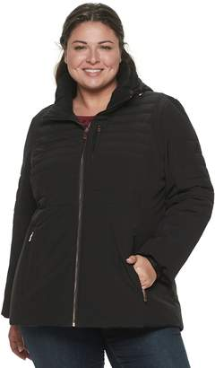 ZeroXposur Plus Size Quilted 4-Way Stretch Heavy Puffer Jacket