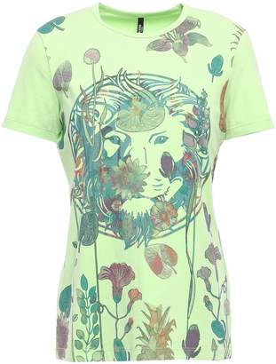 Versace Printed Stretch Cotton-blend Jersey T-shirt