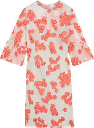 Lela Rose Silk-blend Fil Coupe Organza Mini Dress
