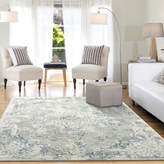 Blue Area Dynamic Rugs Quartz Ivory and Grey and Rug, 5.3'x7.7'