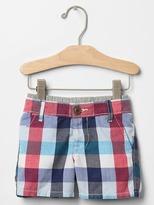 Gap Bold plaid pull-on shorts