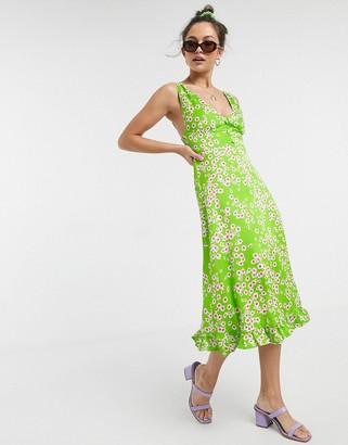 Faithfull The Brand Faithfull emili floral sleeveless sun midi dress in satin