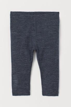 H&M Wool Leggings - Blue