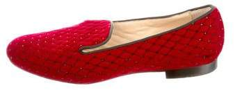 Christian Louboutin Round-Toe Embellished Loafers