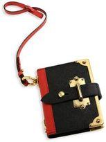 Prada Large Saffiano Leather & Metal Key Charm