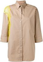 No.21 lace trim shirt - women - Cotton - 40