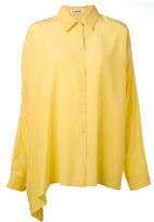 Jil Sander asymmetric shirt - women - Silk - 34