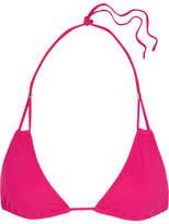 Heidi Klein Antigua Triangle Bikini Top - Crimson