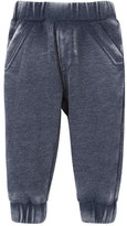 Andy & Evan Burnout Jersey Track Pants, Navy, Size 3-24 Months