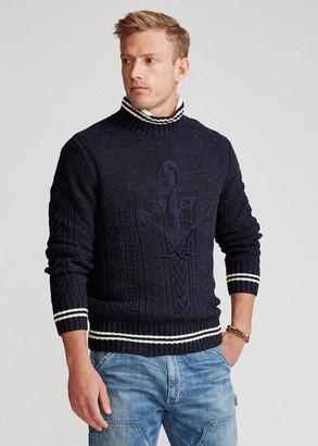 Ralph Lauren Hand-Embroidered Cotton-Blend Sweater