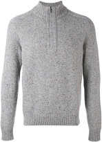 Loro Piana zip collar jumper - men - Cashmere/Goat Suede - 48